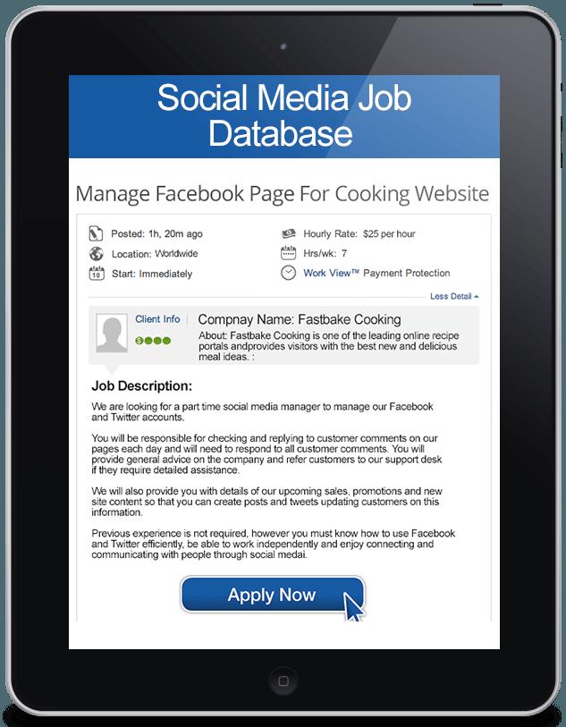 Paid Social Media Jobs on Facebook